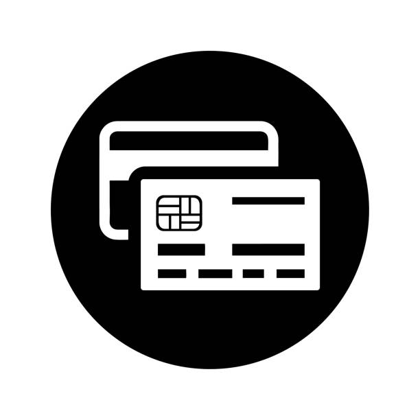 ikona kredytu, karty mastercard, karty debetowej - credit card stock illustrations