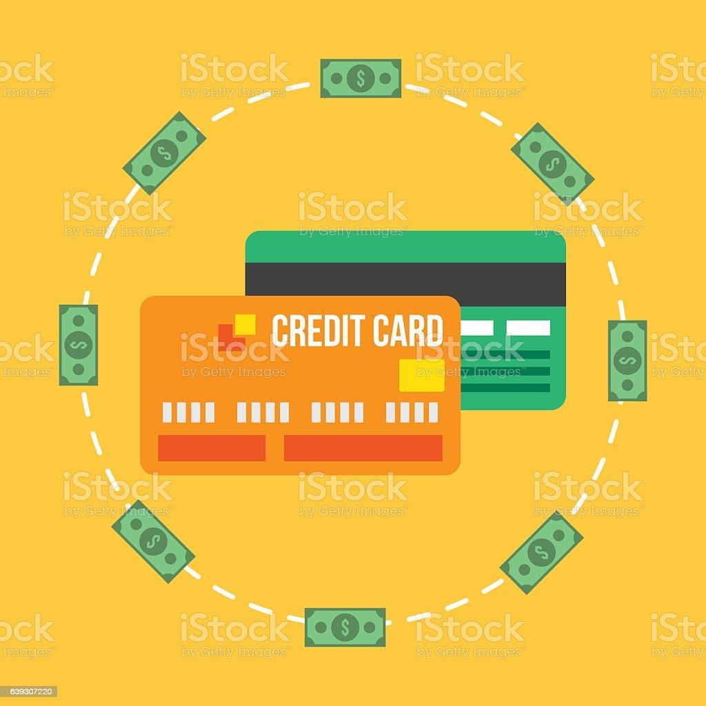 Credit Or Debit Card Business Design Vector Illustration stock ...