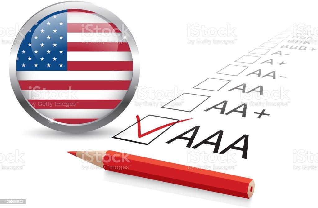 USA Credit rating royalty-free stock vector art