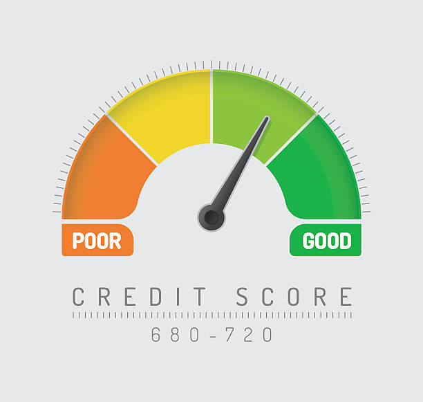 credit score gauge - credit score stock illustrations, clip art, cartoons, & icons