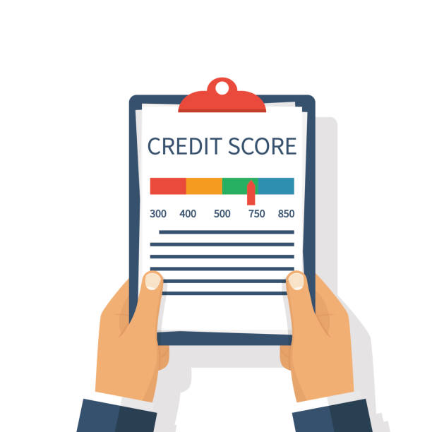 credit score, gauge - credit score stock illustrations, clip art, cartoons, & icons
