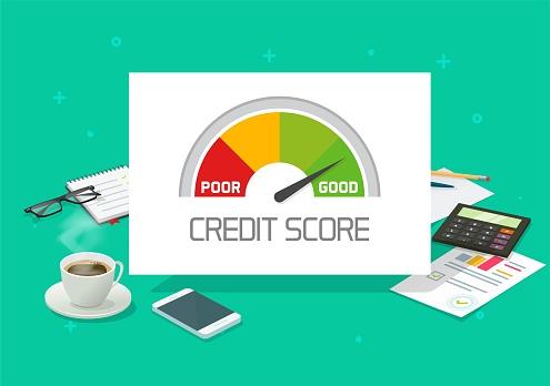 Credit Score Rating Report Analyse Check Oder Finanzgeschichte