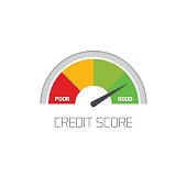 Credit score scale showing good value vector icon isolated