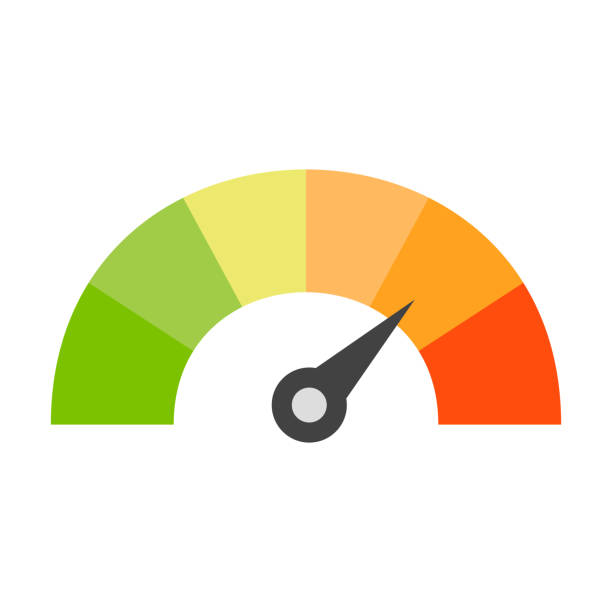 credit score speedometer icon - credit score stock illustrations, clip art, cartoons, & icons