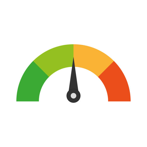 credit score. speedometer. rating. - credit score stock illustrations, clip art, cartoons, & icons
