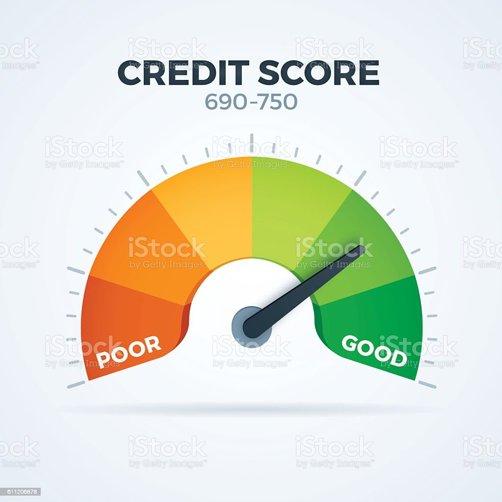 Credit Score vector art illustration