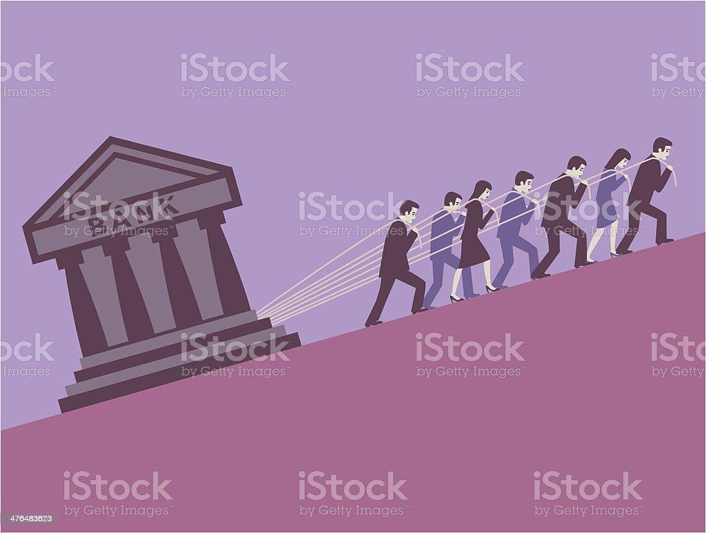 Creditors. royalty-free stock vector art