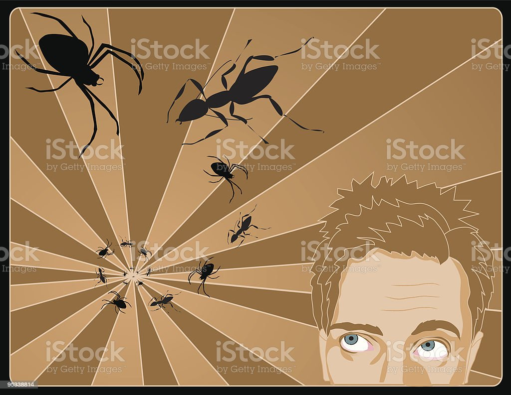 Creepy Crawly Things royalty-free stock vector art