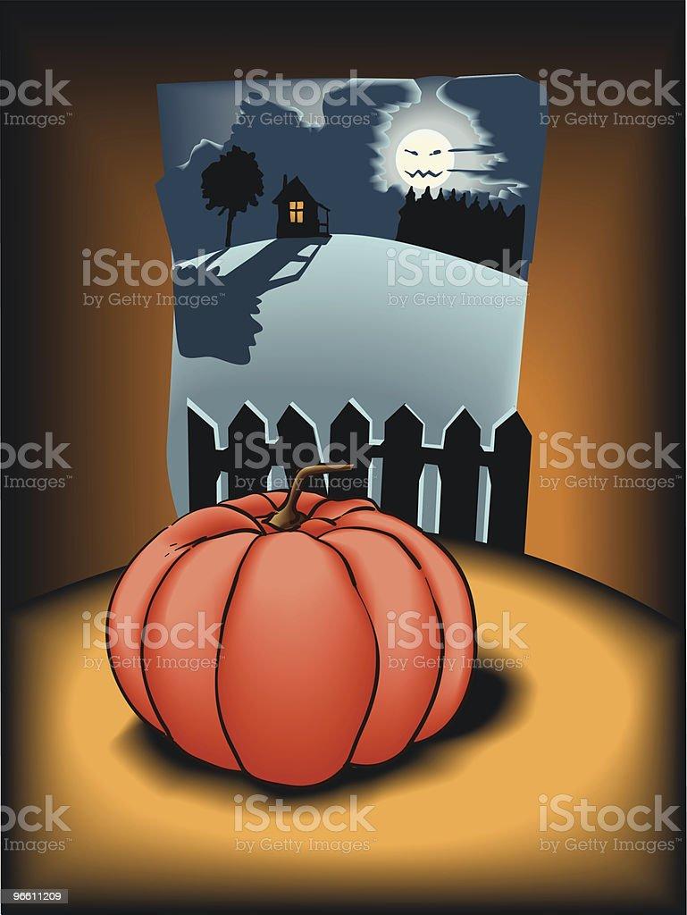 Gruselige halloween - Lizenzfrei Anhöhe Vektorgrafik