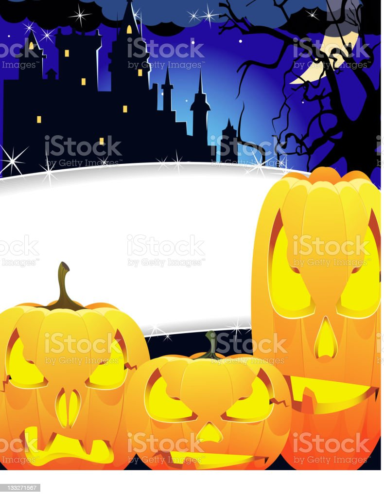 Creepy monsters with glowing eyes royalty-free stock vector art
