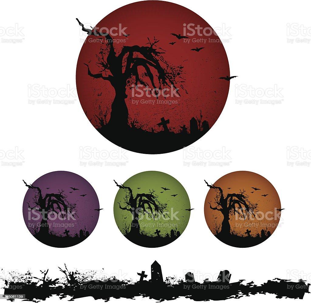 creepy tree circle royalty-free creepy tree circle stock vector art & more images of backgrounds