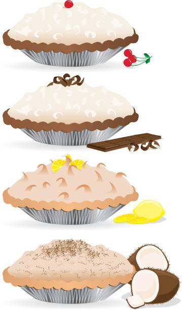 Creme Pies vector art illustration