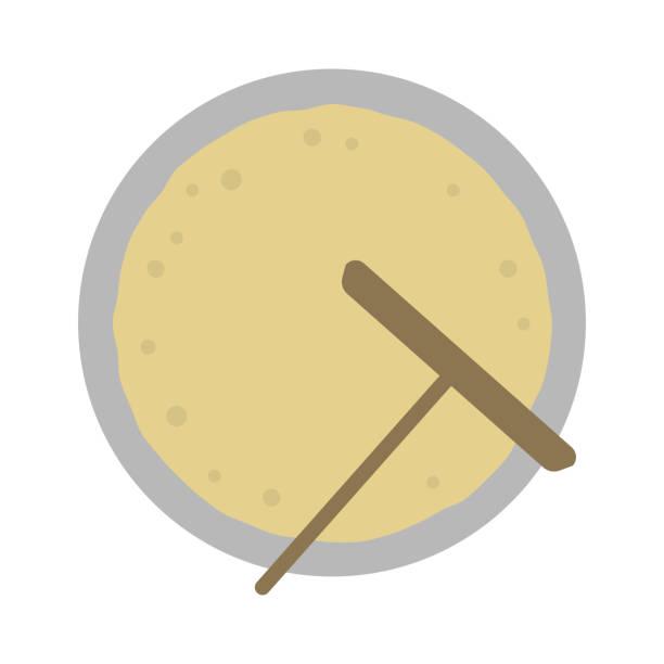 bildbanksillustrationer, clip art samt tecknat material och ikoner med crepe färg illustration / bakning crepe - crepe