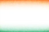 A horizontal vector illustration of tricoloured three bands in saffron, off white and green colors. The orange and green at the top and bottom, blend into the off white central band. A peaceful patriotic theme faded wallpaper. Apt for use of national festivals of India, Niger and also of Ireland and Côte d'Ivoire (Ivory Coast).