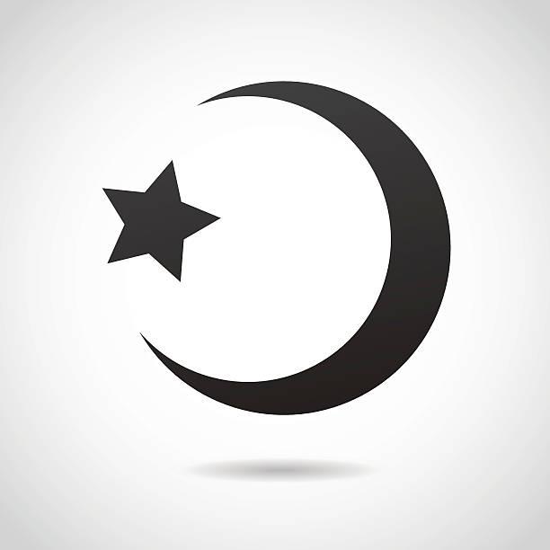crescent moon - islamic icon. - 新月 幅插畫檔、美工圖案、卡通及圖標