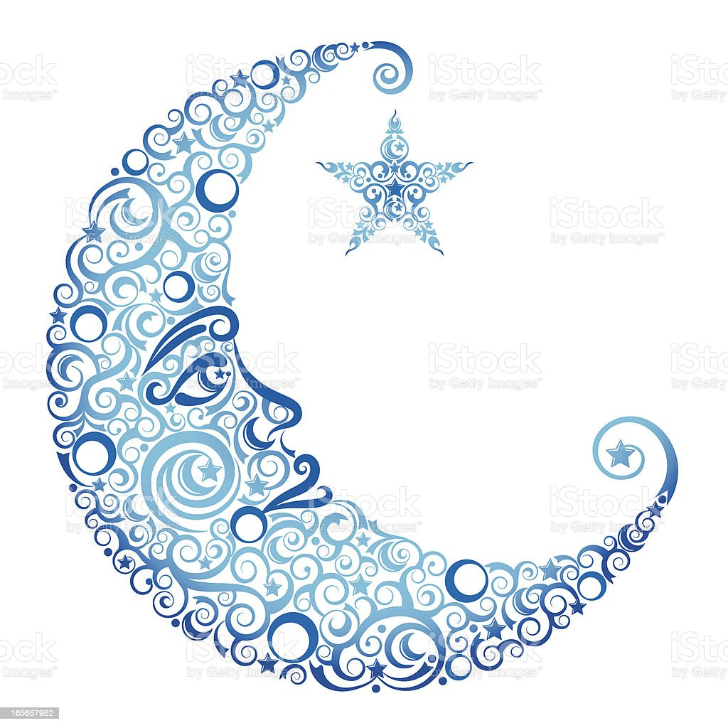 crescent moon star stock vector art 165657952 istock