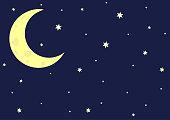 Crescent moon dark space
