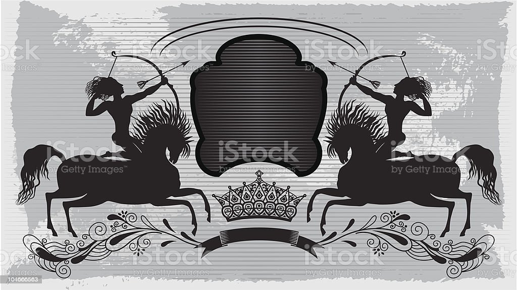 crest 'riders' royalty-free stock vector art