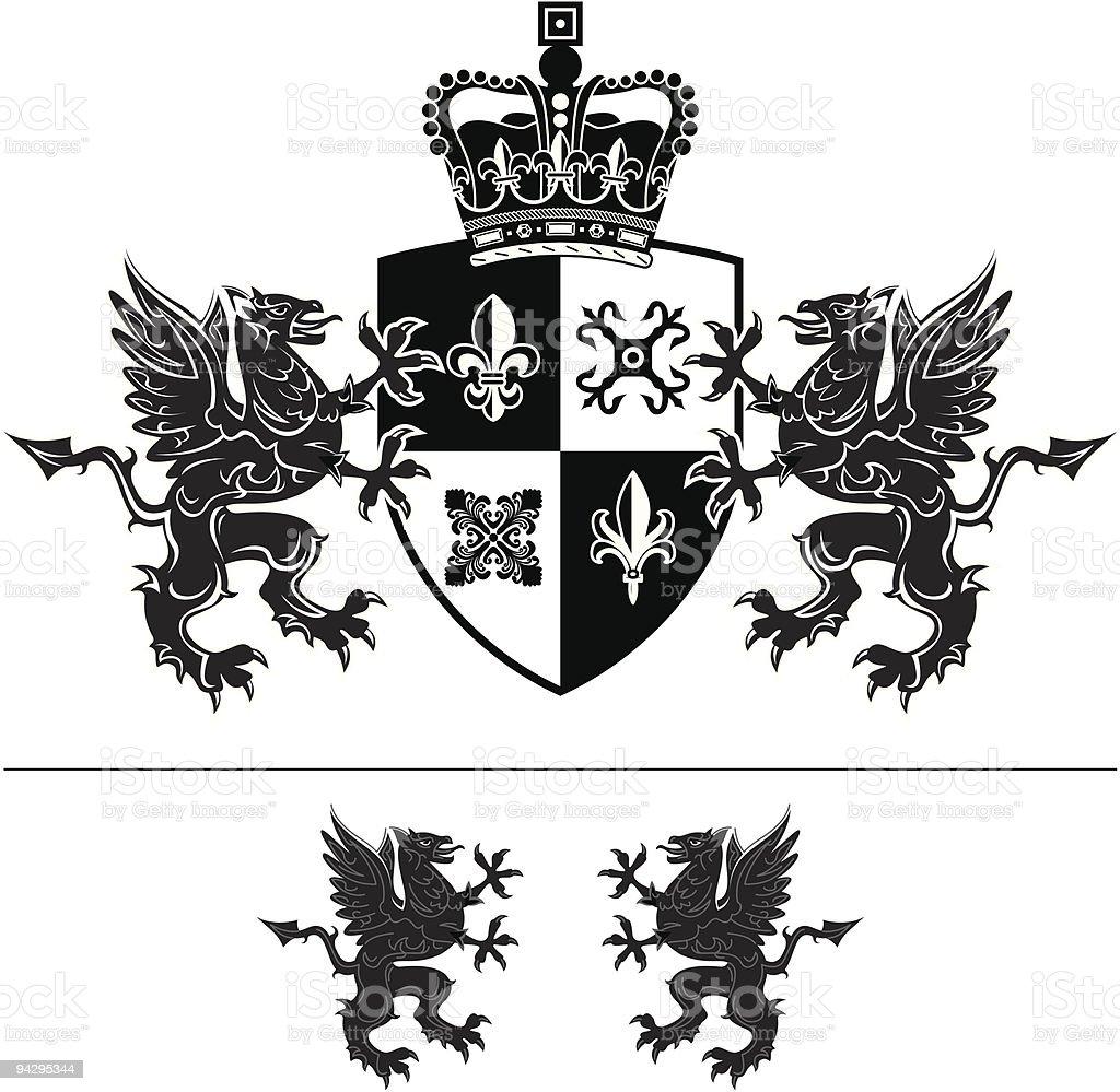 Mit Wappen - Lizenzfrei Dekoration Vektorgrafik