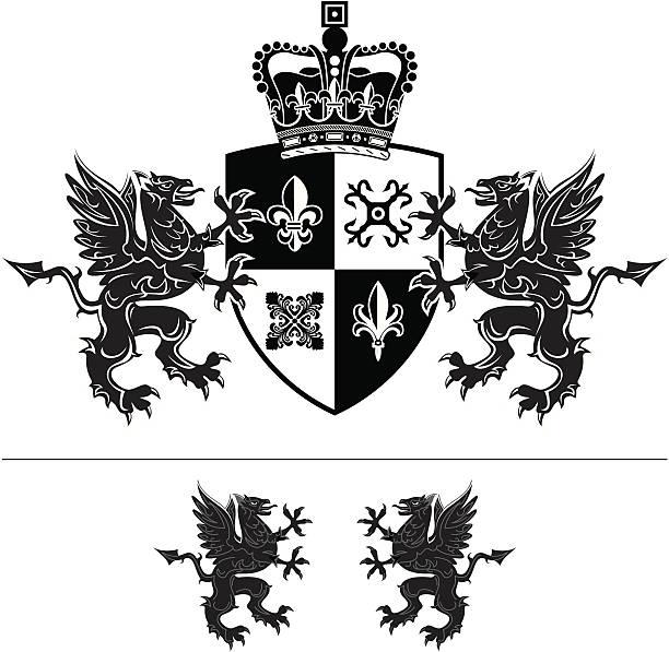 Crest vector art illustration