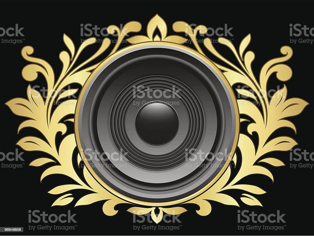 Crest with speaker royalty-free crest with speaker stock vector art & more images of abstract