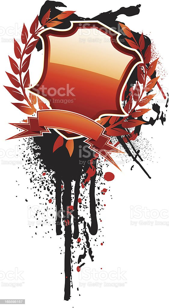 crested grunge royalty-free crested grunge stock vector art & more images of abstract