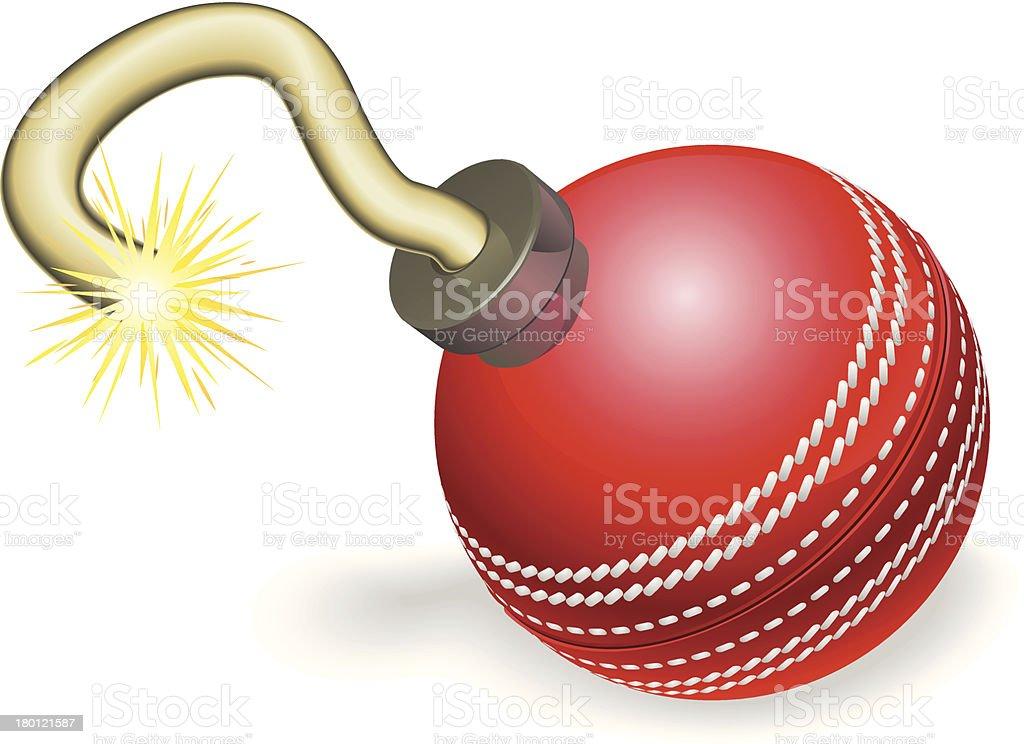 Cricket ball bomb concept royalty-free stock vector art