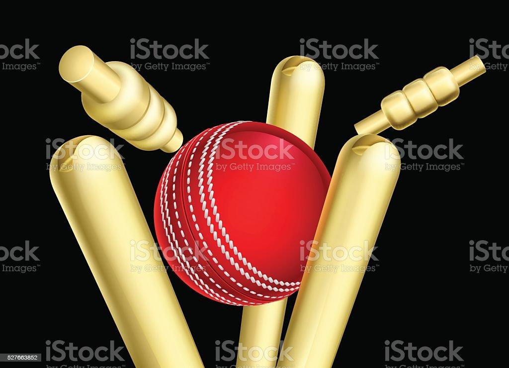Cricket Ball Breaking Wicket Stumps