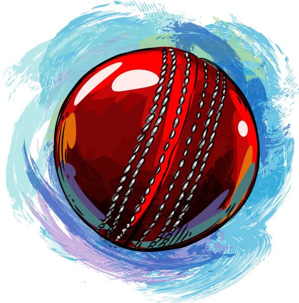 cricket-ball-zeichnung - cricket stock-grafiken, -clipart, -cartoons und -symbole