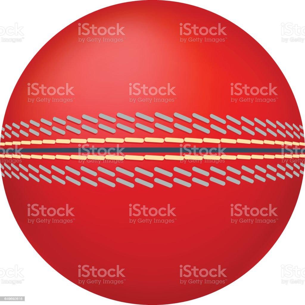 Cricket ball illustration.