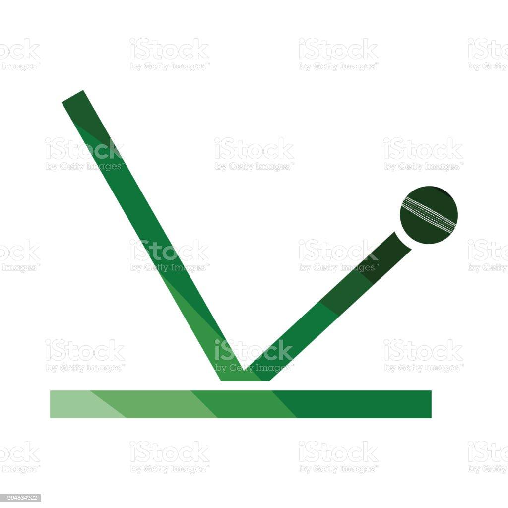 Cricket ball trajectory icon royalty-free cricket ball trajectory icon stock vector art & more images of art
