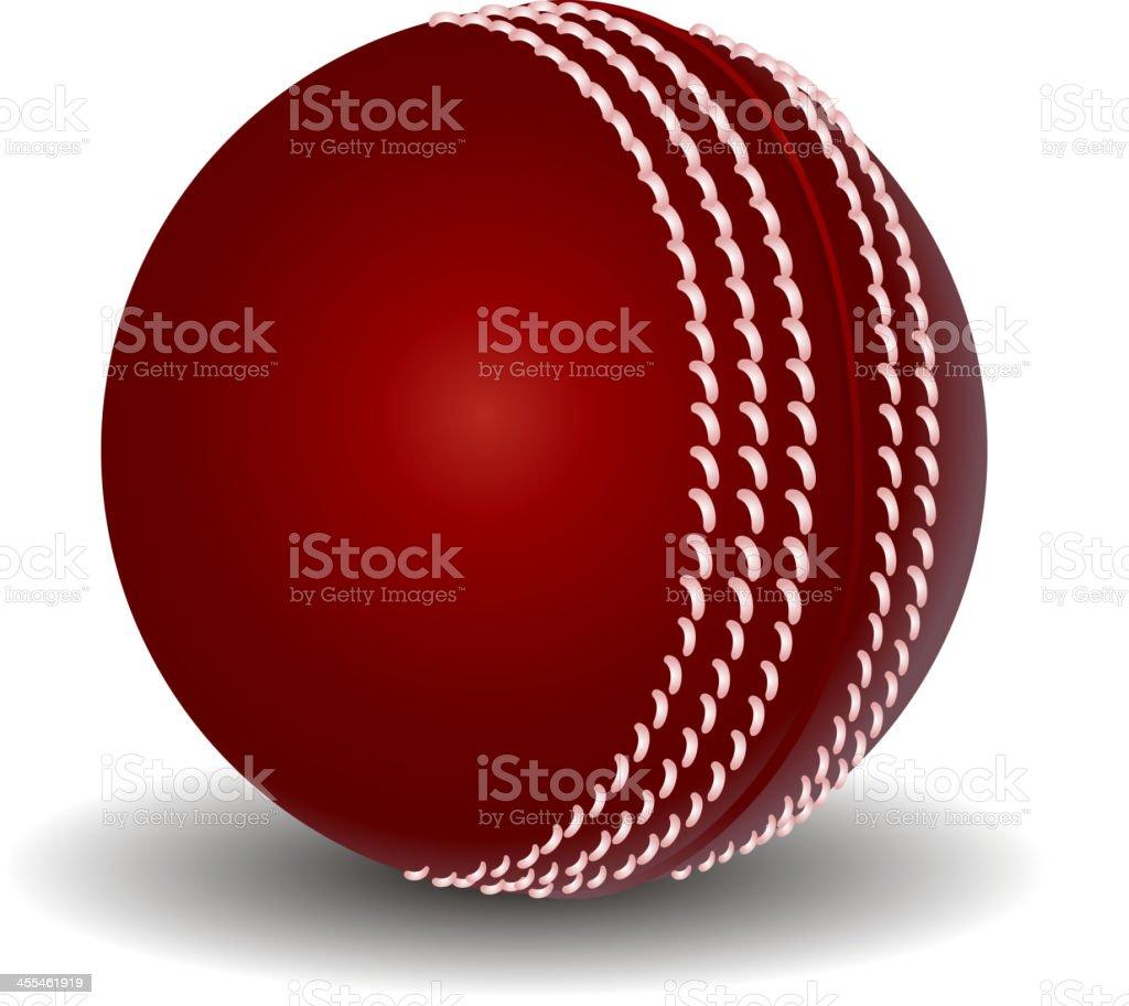 Cricket Ball royalty-free stock vector art