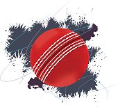 Cricket Ball With Grunge Background