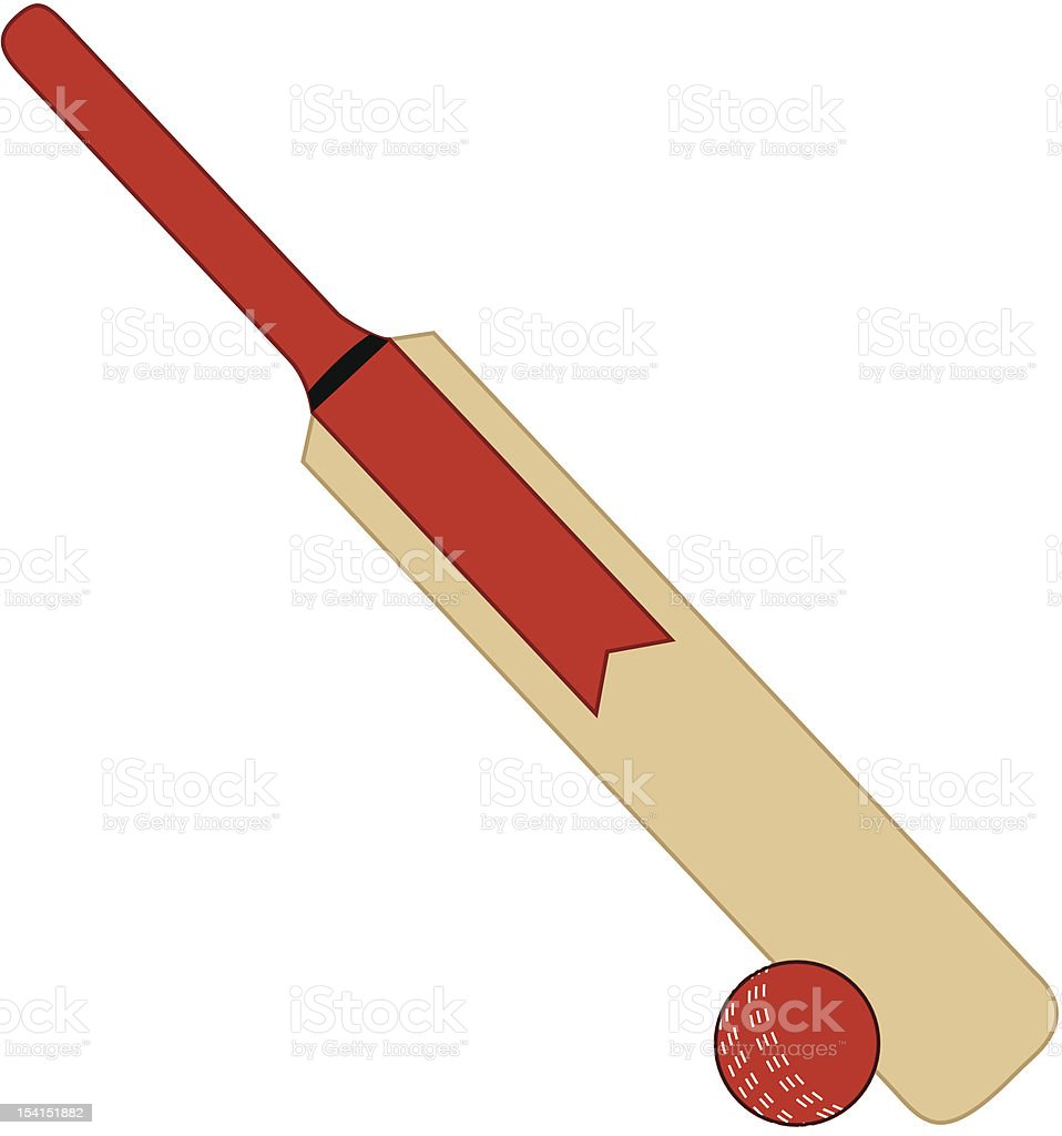 Cricket Bat And Ball Stock Vector Art & More Images Of