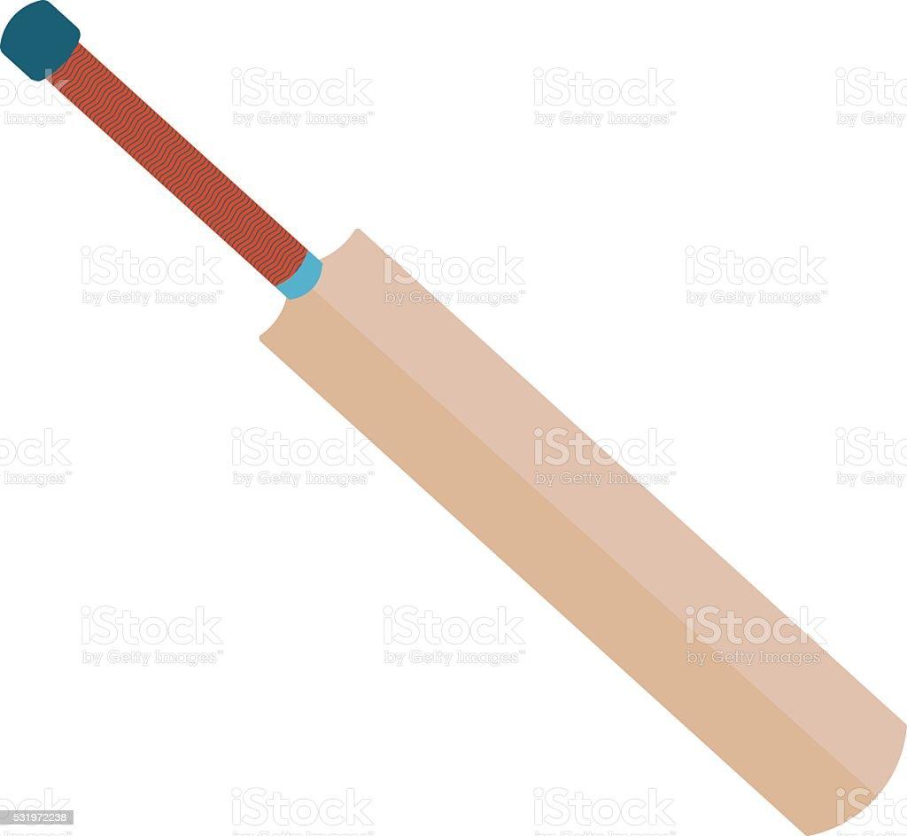 Cricket bat illustration. vector art illustration