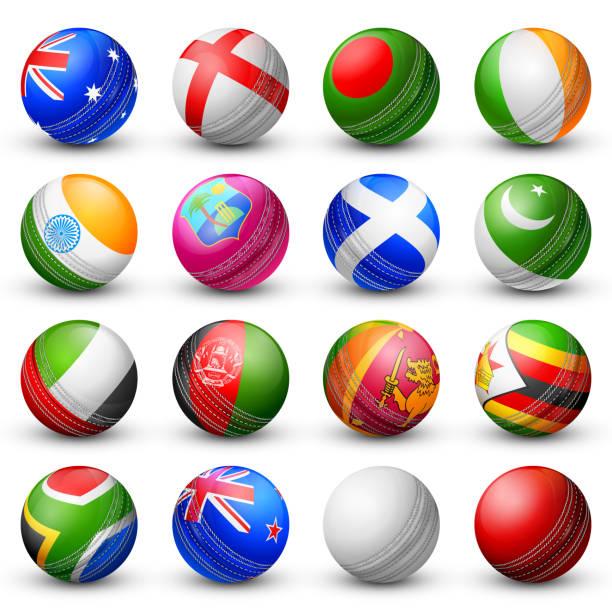 ilustraciones, imágenes clip art, dibujos animados e iconos de stock de bate de críquet de diferentes países participantes - críquet