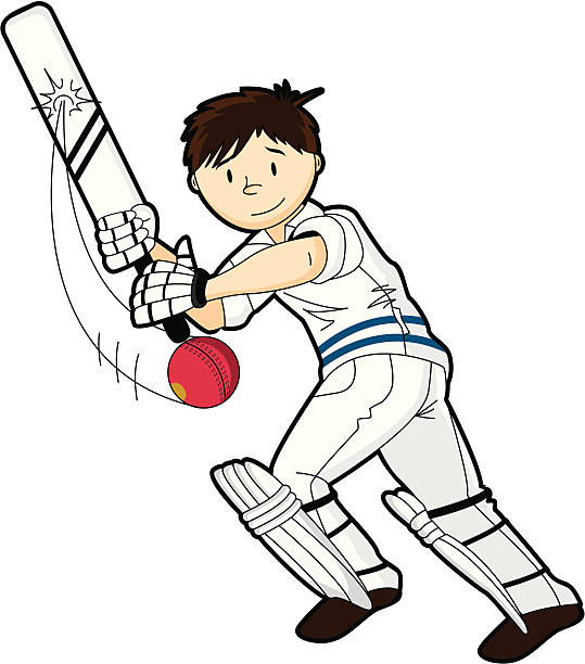 Best Kids Playing Cricket Illustrations, Royalty-Free ...