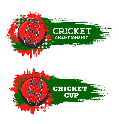 Cricket championship cup, sport game club banner