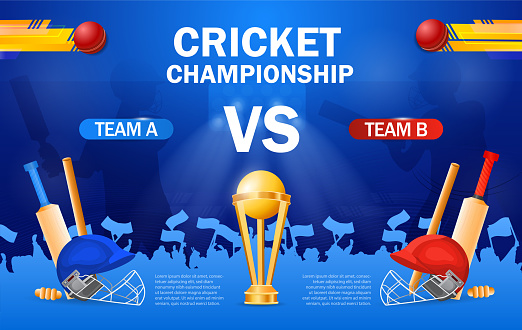 Cricket championship poster template
