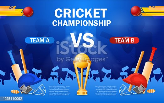 istock Cricket championship poster template 1253110092