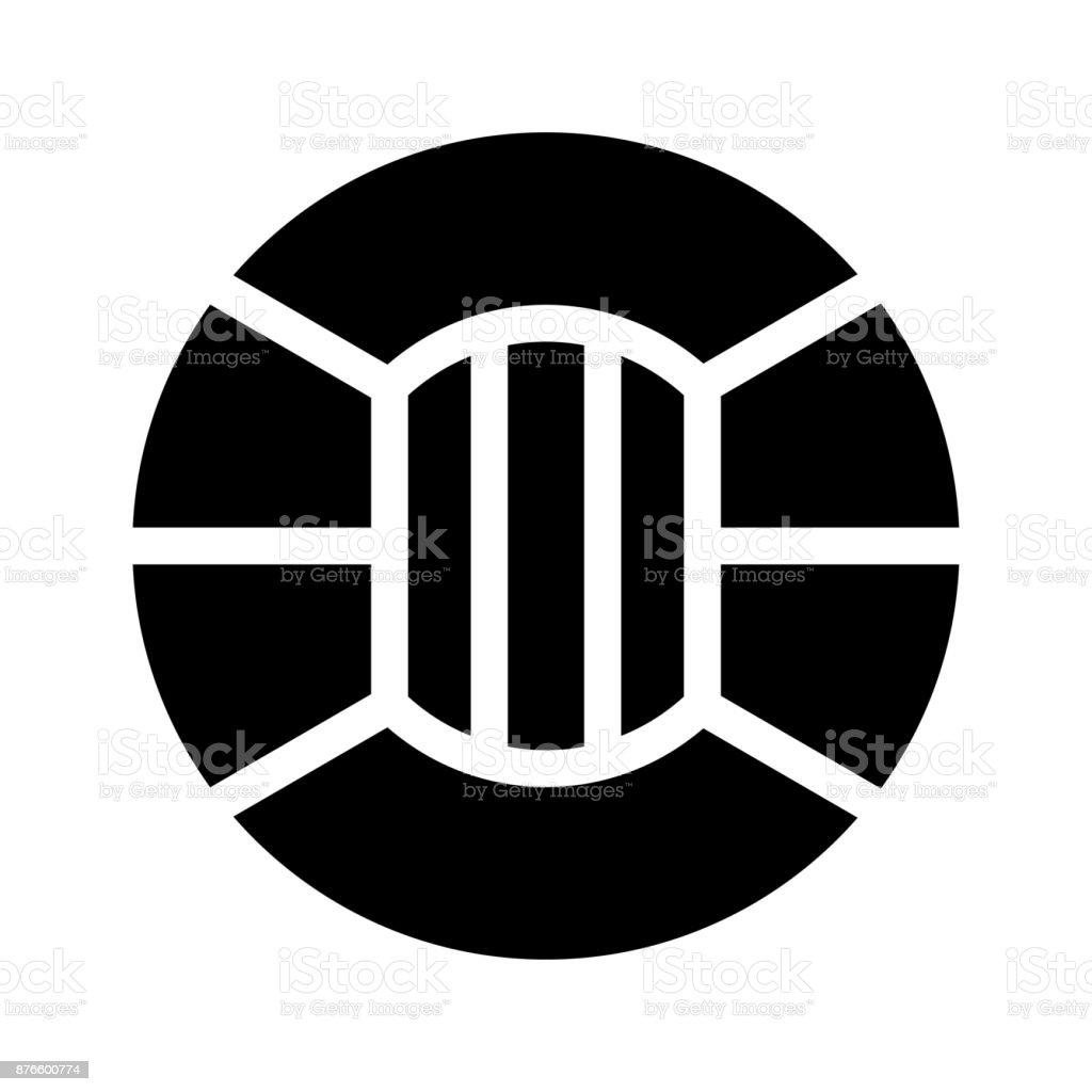 cricket ground Glyphs Vector Icon