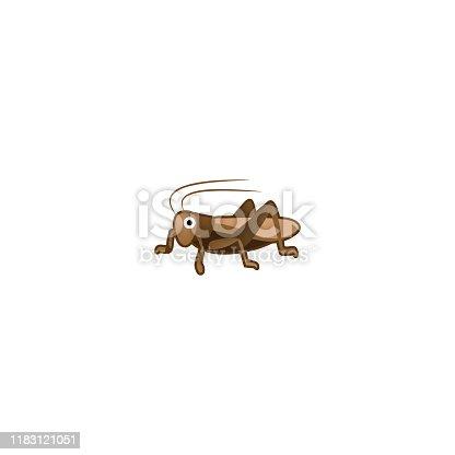 istock Cricket Isolated Realistic Vector Icon. Cricket Insect Illustration Emoji, Emoticon, Sticker Icon 1183121051