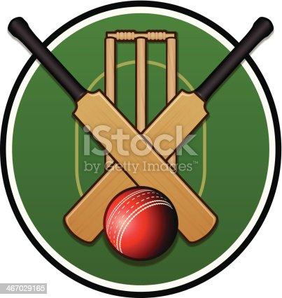 istock Cricket Logo 467029165