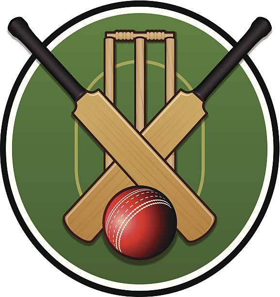ilustraciones, imágenes clip art, dibujos animados e iconos de stock de logotipo de críquet - críquet
