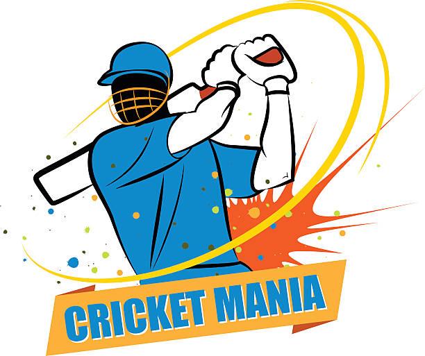 ilustraciones, imágenes clip art, dibujos animados e iconos de stock de manía india de críquet - críquet