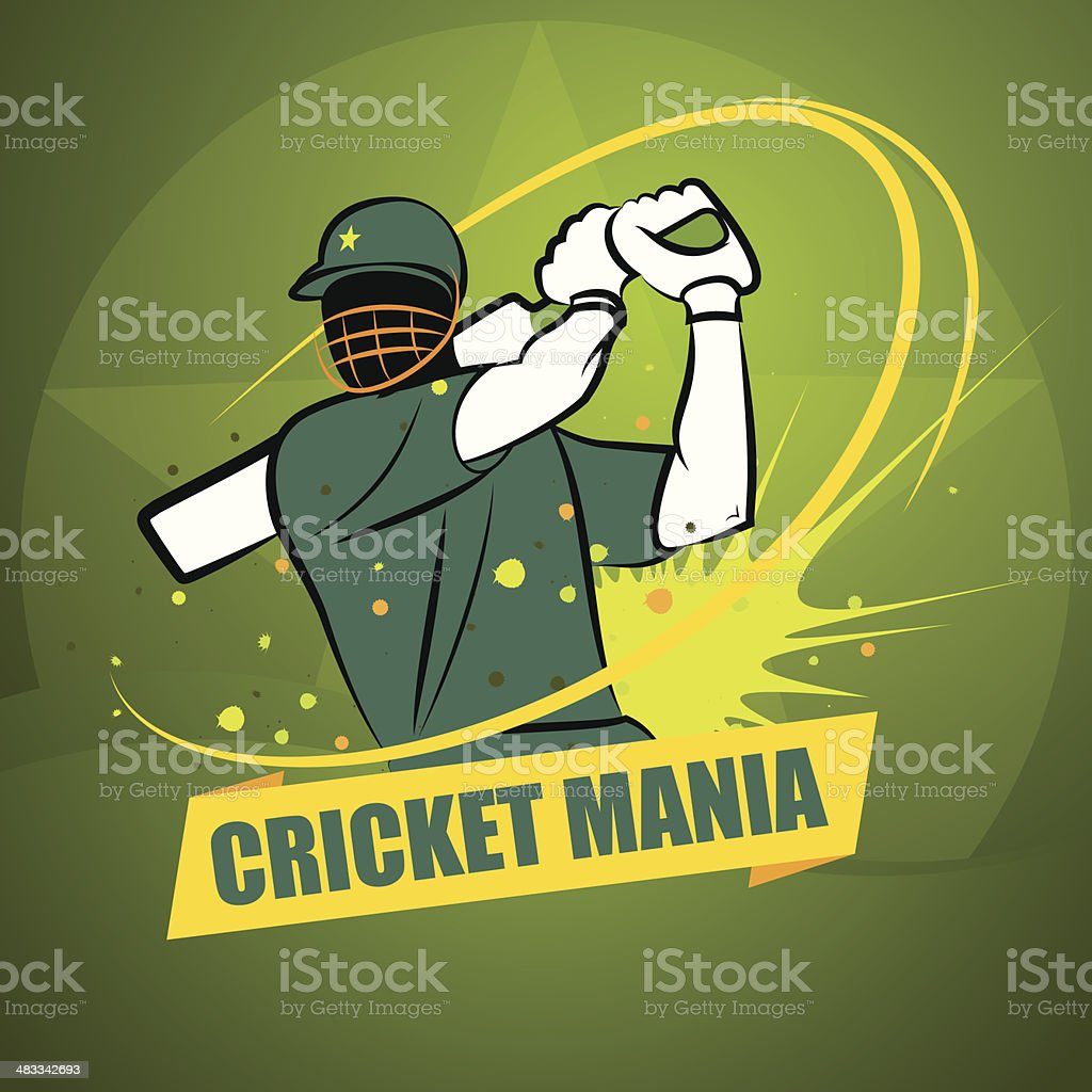 La folie du Cricket Pakistan - Illustration vectorielle