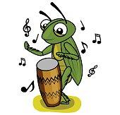 cricket music drum player