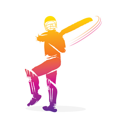 cricket player hitting shot