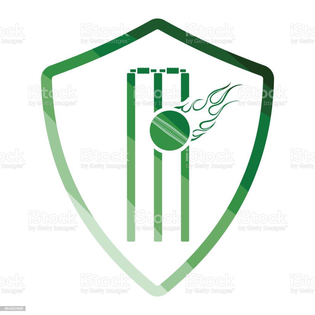 Cricket shield emblem icon royalty-free cricket shield emblem icon stock vector art & more images of badge