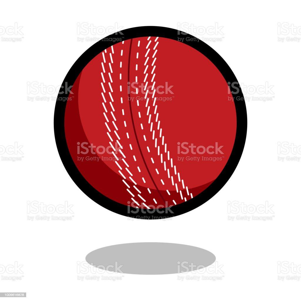 Cricket sport ball logo vector line 3d icon